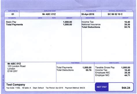 8 sample salary slip format sales slip template