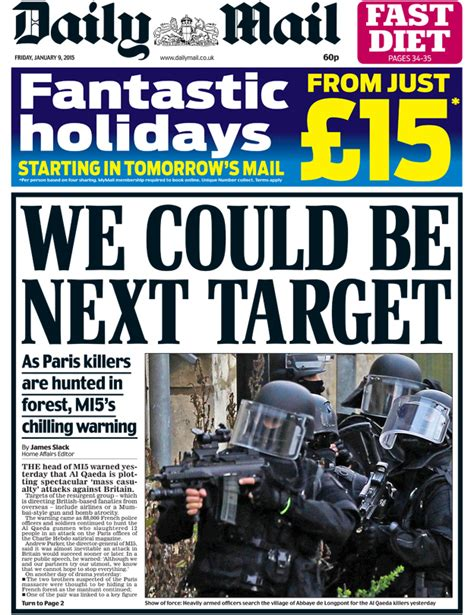 news latest headlines photos and videos daily mail online newspaper headlines charlie hebdo attack tv debates and