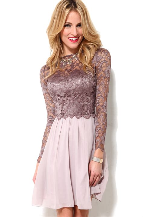 Valentino Hobo 2in1 Kg6009 lyst sleeve lace bodice dress in pink