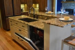 pictures of kitchen islands with sinks kitchen sink dishwasher 3 kitchen islands with seating
