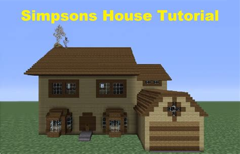 Minecraft 360 How To Build The Simpsons House House Simpsons House Minecraft Blueprints