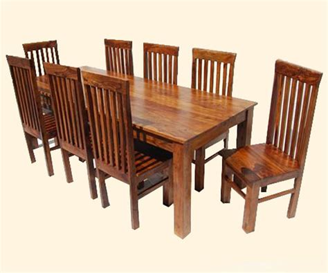 large 9pc kitchen dining table and chairs solid hardwood