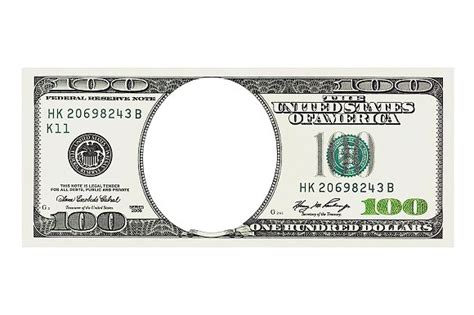 100 dollar bill without face templates on creative market