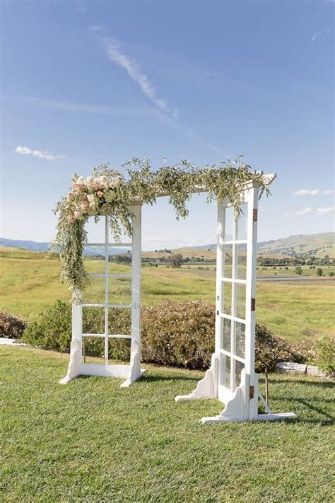 Wedding Arch Doors by Classic California Wedding At Taber Ranch Ceremony