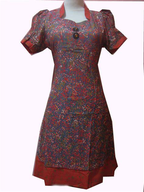Dress Cantik Santai Biru Motif dress batikcantiqu