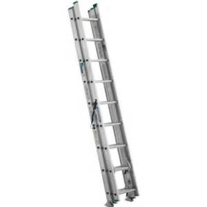 home depot aluminum ladder werner 24 ft aluminum 3 section compact extension ladder