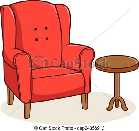 Armchair Clipart by Armchair And Side Table Illustration Of A Armchair