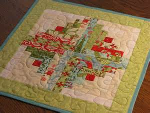 Quilted table topper table quilt centerpiece by dollpatchworks