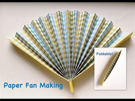 Paper Fan Origami - how to make paper folding fan that can open and i