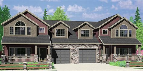 Fourplex Plans by Multi Family Craftsman House Plans For Homes Built In