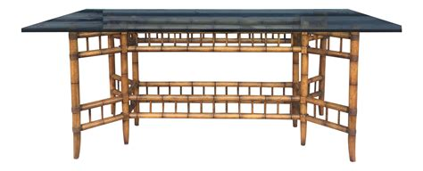 vintage bamboo dining table vintage faux bamboo dining table with glass top chairish