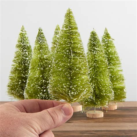 melbourne and 60cm bottle brush christmas tree frosted light green bottle brush trees miniatures and winter