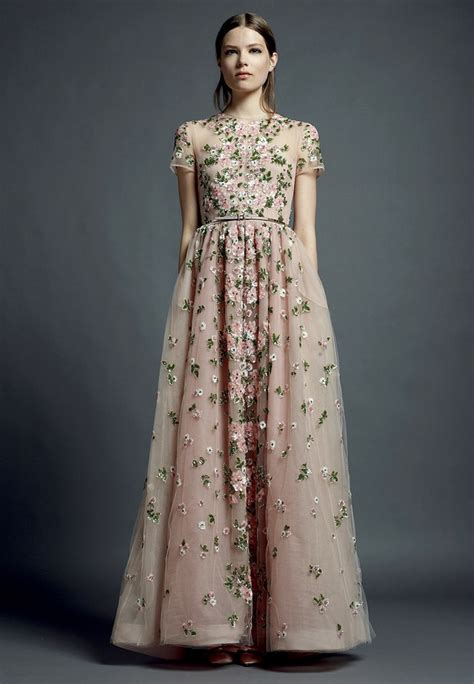 Embroidered Gown valentino floral embroidered gowns