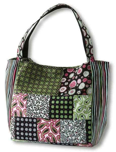 Patchwork Bags To Make - paisley print patchwork bag free sewing pattern