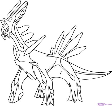 Pokemon Coloring Pages Dialga | pokemon dialga coloring pages ideas