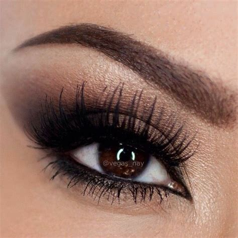 Eyeshadow Brown Brown Smoky Eye Wedding Makeup Wedding Ideas