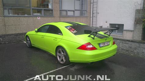 green mercedes acid green mercedes benz cls c219 is an eyesore