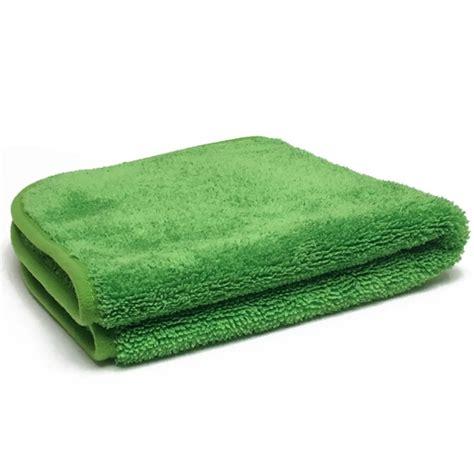 Haren 06 Towel Green ultra plush microfiber towel 600 gsm green green 16 in x 16 in