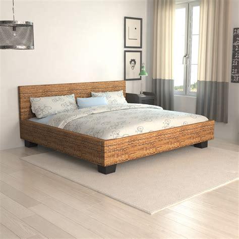 140 X 200 Mattress by Vidaxl Co Uk Handwoven Abaca Rattan Bed 140 X 200 Cm