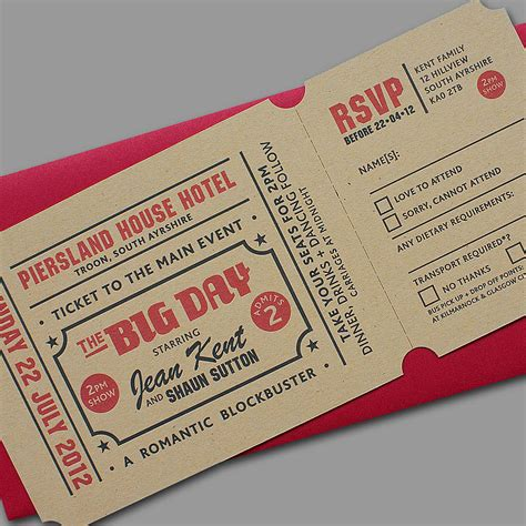 mind blowing ticket wedding invitations theruntime com