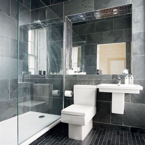 traditional contemporary bathrooms uk charcoal grey tiles not the squared toilet though