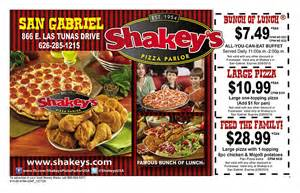 shakey s lunch buffet printable coupons moneymailer
