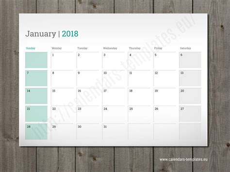 2018 weekly planner calendar schedule organizer appointment journal notebook and day unicorn design volume 96 books 2018 monthly wall or desk planner agenda template calendar