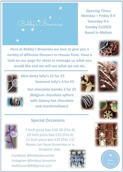 bobbys brownies bakery melton mowbray facebook