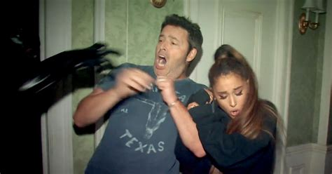 haunted house while pregnant ariana grande visits american horror story house on ellen us weekly