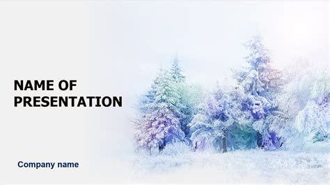 fairy winter powerpoint template for impressive