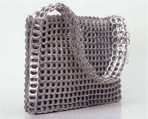 things made out of recycled materials escama handbags made from recycled aluminum pulltabs