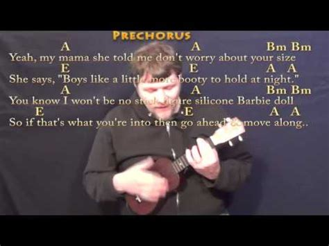 ukulele tutorial all about that bass all about that bass ukulele cover lesson with chords