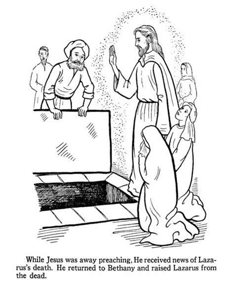 coloring pages jesus raises lazarus jesus raises lazarus from the dead bible jesus miracles