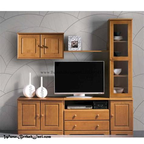 Lemari Kayu Bekasi lemari bufet tv minimalis laci kayu berkah jati furniture berkah jati furniture
