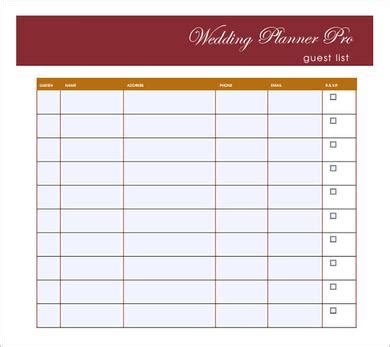 how to set up a wedding guest list in excel wedding guest list template to set a wedding ceremony on a budget