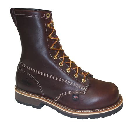 safety toe boots thorogood mens heritage brown leather boots 8in emperor