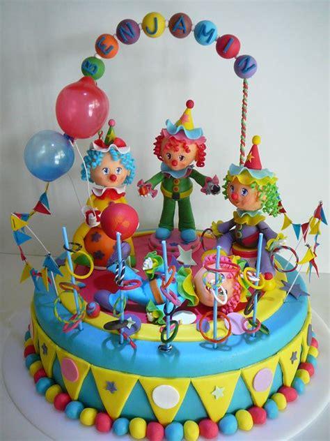 torta infantil con payasos modelados 3 a 241 itos