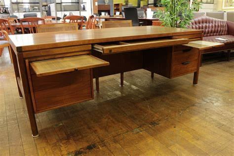 century office furniture jens risom vintage mid century walnut desk