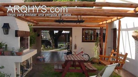 claraboya leroy pergolas de madera y policarbonato youtube
