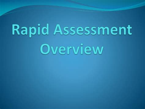test technology overview ppt download ppt rapid assessment overview powerpoint presentation