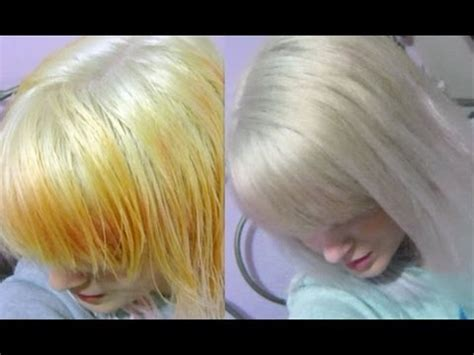toner after bleaching copper hair wella white lady toner before and after demonstration
