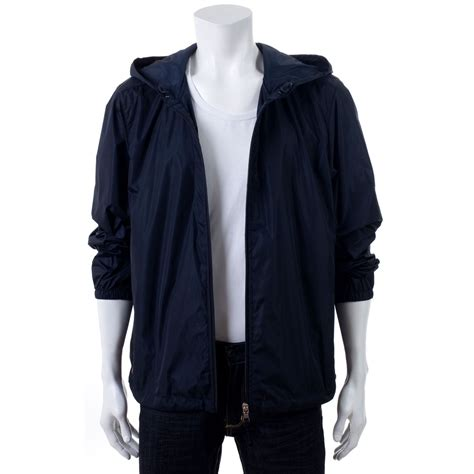 Prada Jacket Blue prada hooded waterproof jacket in blue for lyst