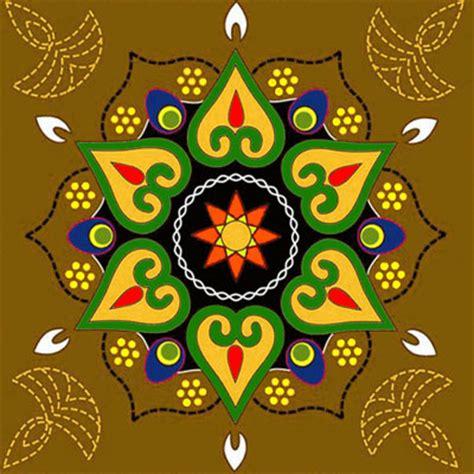 simple pattern of rangoli diwali rangoli