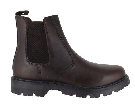 oaktrak rocksley boys brown leather dealer pull on