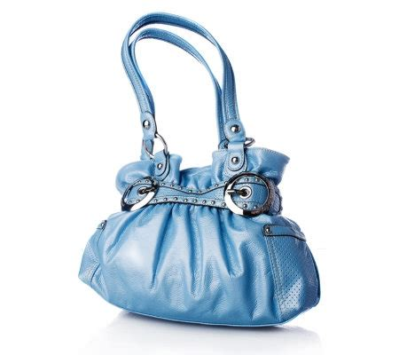 Kathy Zeelands Glove Nappa Gathered Shopper 2 by Kathy Zeeland Me Mona Patent Belted Shopper