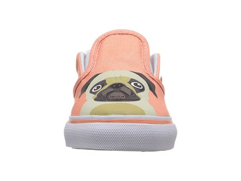 vans pug shoes vans classic slip on toddler pug burnt coral zappos free shipping both ways