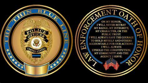 oath of honor blue justice enforcement advisory commission mtu 10