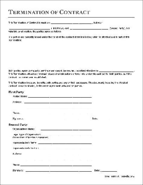 Contract Forms Free   Free Printable Documents