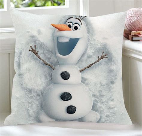 Olaf Pillow by Disney Frozen Olaf Snowman Snowing Family Plush Pillow