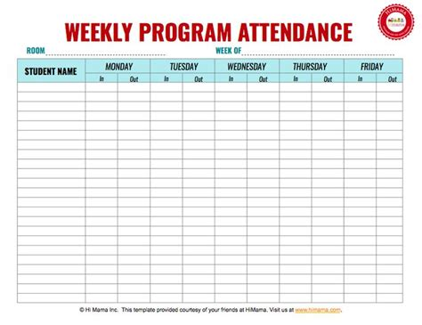 the 25 best ideas about attendance sheets on pinterest
